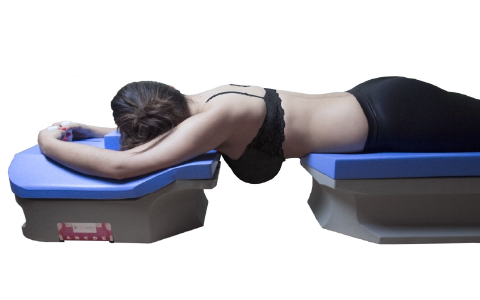 Prone breast patient positioning side view